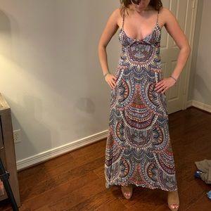 Billabong Hi-Low Maxi Dress with Lace-up Back